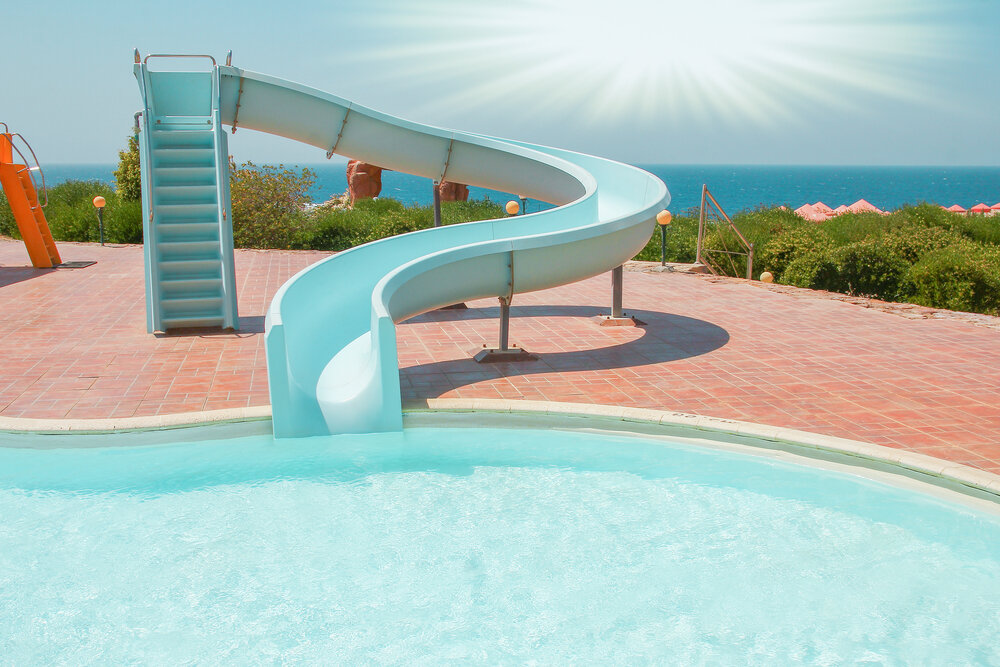 What are pool slides made of